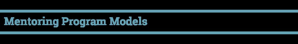 Mentoring Program models-01